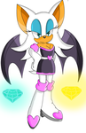 Rouge the bat by Miiv12