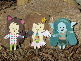 Christmas Paper Dolls by PixieParrot