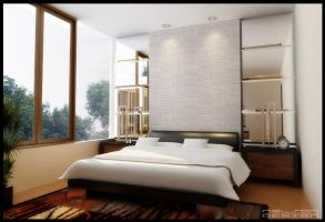simple bed room by Neellss