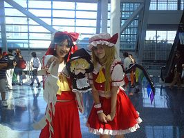 AX 10: Reimu and Flandre by theEmperorofShadows