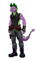 Spike the Dragon - Rogue Diamond Outfit by Pia-sama