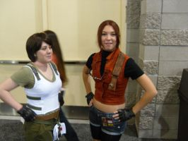 Claire and another Resident Evil character. by Elemental-wyvern
