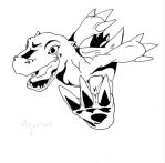 Line Art: Agumon by Mearns