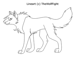 Wolf Lineart (Download) by TheWolfFight