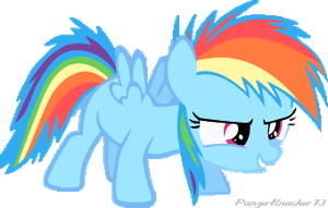 Rainbow Dash filly Vector Render by PanzerKnacker73