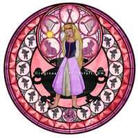 Princess Eilonwy - Kingdom Hearts Stain Glass by reginaac57