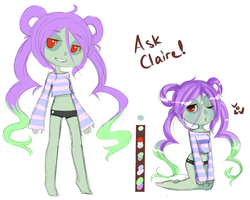 claire the zombie by buggingtin
