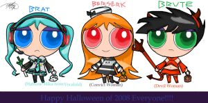 PowerPunk Girls Halloween by Sutefanii-chan