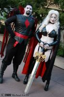 Mr. Sinister + Lady Death 1 by Insane-Pencil