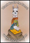 Llama Thanks You in Watercolor by The-Cute-Storm