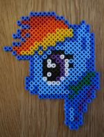 Rainbow Dash Hama Beads by sophiemai