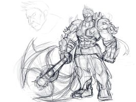 [league of legends] Sion sketch by Legalia