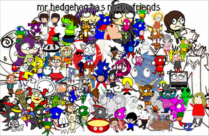 the mr hedgehog collage by Shaon