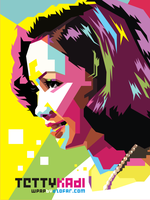 Tetty Kadi Pop Art WPAP by ndop
