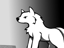 Snow Wolf by evilyowling
