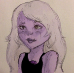 2 Eyed Amethyst by xLazzyta
