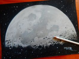moon drawing..sweet dreams by Unfor-street-arT