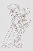 :Doodle of the Day: Good Girls and Bad Boys by XenomorphSangheili