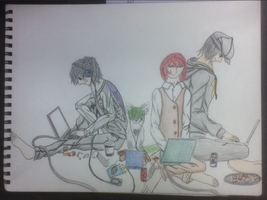 Computer Party by molingirl