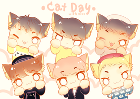 Cat Day With Vixx by Black-Quose