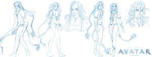 Avatar - various sketches - by Neldorwen