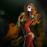 Morning Sketch: Dark Phoenix by rashomike