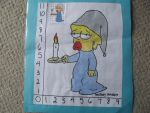 Maggie Simpson Scale Drawing by TheSimpsonsFanGirl