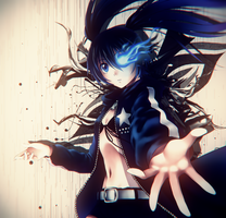 Black rock shooter by VIZAMV