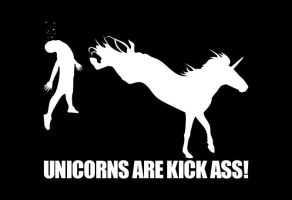 Unicorns Are Kick Ass by HenkkaArt