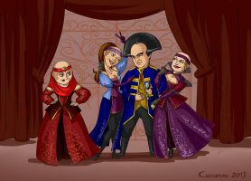 Londo and his wives by kissyushka