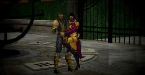 Scorpion and Mileena by VIRGIL46