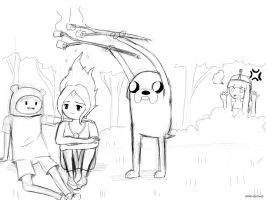 Lovin Time (ADVENTURE TIME) :Sketch: by spenzbowart