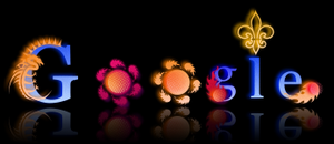 Gooooogle Flaming Design by DeviantSith