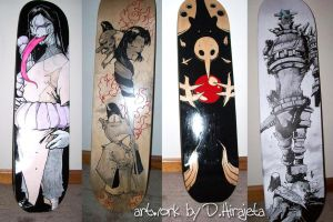 more skate decks by TheIronClown