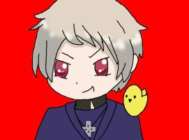 Prussia and Gilbird by spottedcloud123