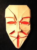 Origami Guy Fawkes Mask by Lexar-