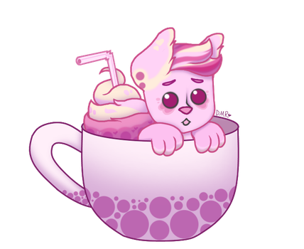 Pink Bubble Tea YCH by PsychedelicMemes