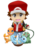 .Pokemon Trainer Red. by Ultimachu