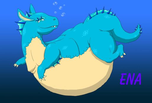 Ena Swimming by GuttLoverz