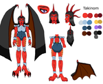 Takinom Reference Sheet by FireBird963