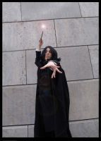 Snape Cosplay: Sectumsempra by Abessinier