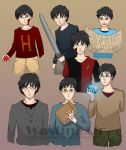 Harry Potter through the years by wasting-air