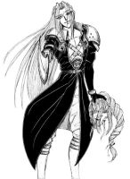 Sephiroth and Aeris by Silver-Falcon