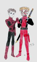 Spidey And Deadpool by angrysmurf