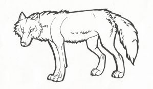 Wolf Lineart by Windicious