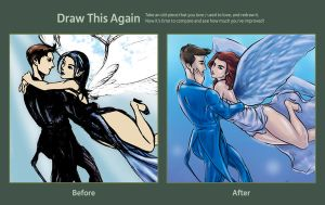 Draw This Again Challenge:  His Angel by nUedle