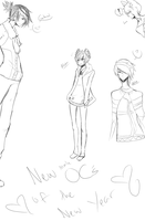 Sketches of my new Male OCs by milkie-nommi