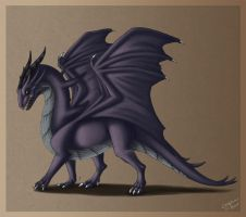 Purple Dragon by Pookabay
