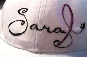 Embroidered Sara and Hodgkin's Ribbon Hat by Mysticalpchan