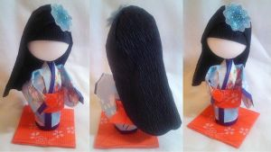 Contest Prize: 3D Origami Kid - Girl in Blue by mihijime